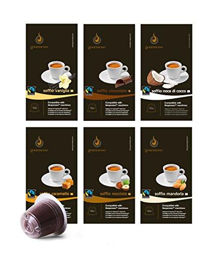 Gourmesso Flavour Box - 120 Nespresso kompatible Kaffeekapseln