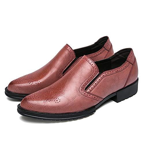 Bangxiu Style Rouge Hommes Eu Taille 38 Pour Mode Chaussures Cuir Classique En color Breathe Oxford Rouge Simple Brogue Nouveau Business zqzrwARU
