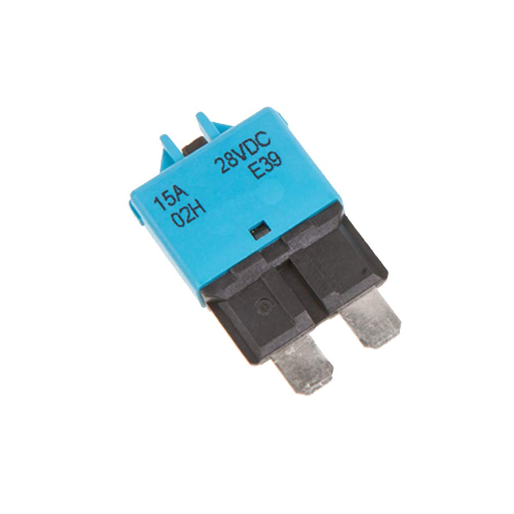 HOUTBY 10A Fuse 12v//24v Fits Circuit Breaker Blade 5-30a Automotive Car Kit Resettable Inline Fuse Holder Protection Stereo Manual Reset