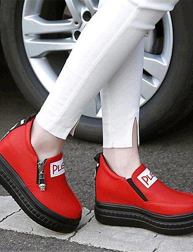 cn39 Plataforma Zapatos Casual Negro Exterior uk6 Semicuero Rojo mujer red Cuñas us8 eu39 cn34 Mocasines gyht eu39 black de uk3 us5 ZQ cn39 eu35 red uk6 us8 A15xIqfwv