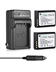 Powerextra LP-E10 1600mAh High Capacity Battery Packs with Charger for Canon Eos Rebel T3, T5, T6, Kiss X50, Kiss X70, Eos 1100D, Eos 1200D, Eos 1300D Digital Camera (Car Charger as Bonus)