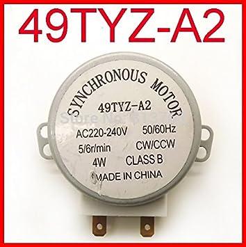 49tyz-a2 para plato giratorio del microondas turn table motor ...
