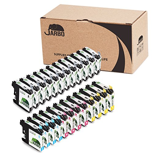 JARBO Compatible Ink Cartridge Replacement for Brother LC103 High Yield, (12 Black, 4 Cyan, 4 Magenta, 4 Yellow), for Brother MFC J870DW J450DW J470DW J650DW J4410DW J4510DW J4710DW J6720 J6920DW (12 Yellow Toner)