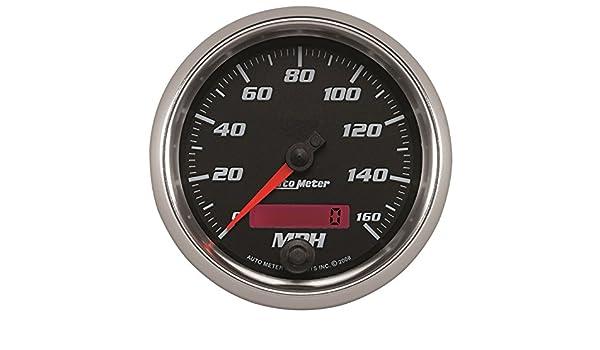 Speedometer Pro-Cycle 3 3//8 Black 160Mph Programmable Auto Meter AutoMeter 19689 Gauge Elec 3 3//8