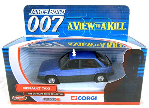 James Bond 007 A View to a Kill Renault Taxi 1/36th Scale Die Cast Car (Corgi's Ultimate Bond Collection) by Corgi