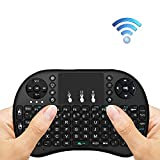 ERISAN I8+ Mini 2.4Ghz Wireless Touch-pad Keyboard Mouse For Android Projector, PC, Tablet, Xbox, PS3, Google Android Tv Box, Smart TV (Black) - ERI8B