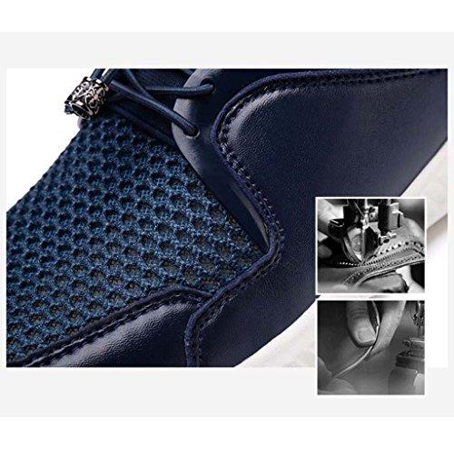ZXCV Zapatos al aire libre Zapatillas de deporte de los hombres respirables cómodos de los zapatos ocasionales de los hombres Azul