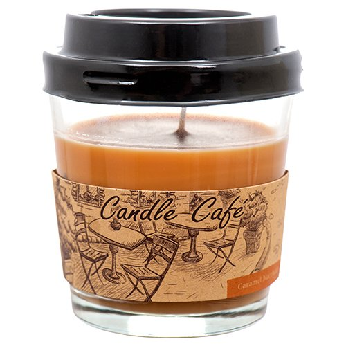 Coffee Cup Candle Caramel Macchiato Scent - Glass Jar Scented Candle (Caramel Macchiato) Coffee Cup Candles