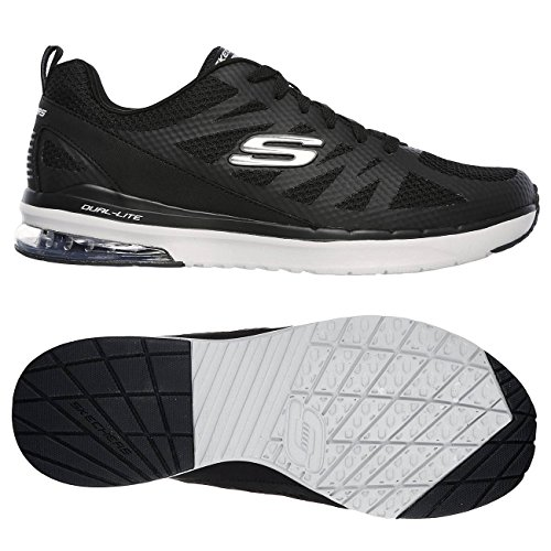 Infinity Running Black Skechers de Chaussures Air Kilgor Grey Homme SanWqwFHx