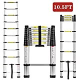 Idealchoiceproduct 10.5 FT Aluminium Telescopic Telescoping Ladder Extension Steps