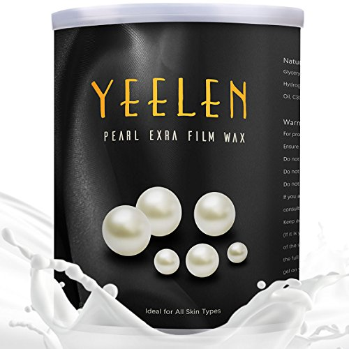 【11 in 1】Yeelen 17.63oz Film Wax Pearl Hard Wax Beans Hot Wax Beads for Home Waxing Hair Removel for Legs, Underarms, Brazilian Bikini, Eyebrow, Upper Lip, Face