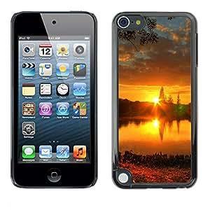 LASTONE PHONE CASE / Carcasa Funda Prima Delgada SLIM Casa Carcasa Funda Case Bandera Cover Armor Shell para Apple iPod Touch 5 / Sunset Beautiful Nature 57