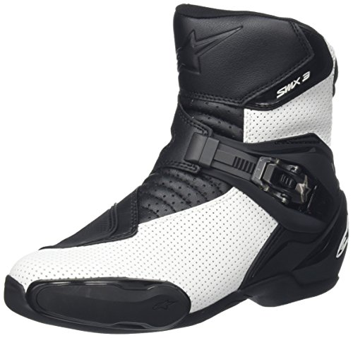 Alpinestars SMX-3 Vented Men's Street Motorcycle Boots - Black/White / 47 (Motorcycle Vented Boots)