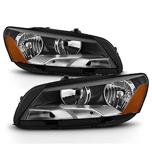13 2014 2015 VW Volkswagen Passat Halogen Headlights Headlamps Driver + Passenger Side ()