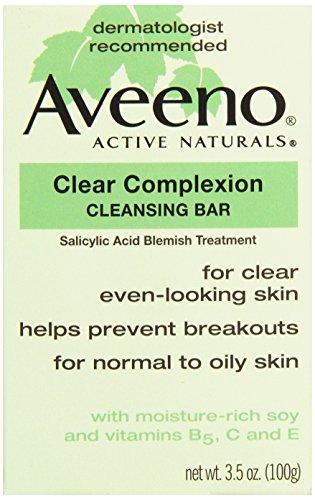 - Aveeno, Facial Bars Clear Complexion Cleansing Bar, 3.5 oz
