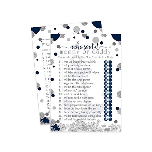 Nautical Baby Shower Game - Guess Who Said It - 25 Pack