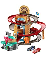 Disney Cars Toys GTK90 Disney and Pixar's Cars Radiator Springs Mountain Race Playset, Complete Racing Play with Two Vehicles, Gift for Cars Fans Ages 4 Years and Older