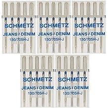 25 Schmetz Jeans Denim Sewing Machine Needles 130/705H-J Size 80/12