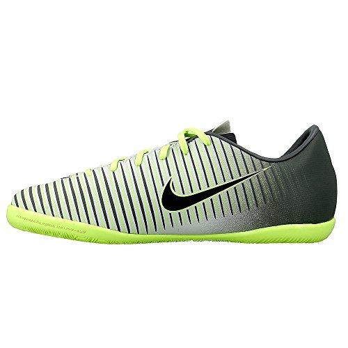 Nike Jr Mercurialx Vapor Xi Ic, Botas de Fútbol Unisex Adulto Plateado (Pure Platinum / Black-Ghost Green)