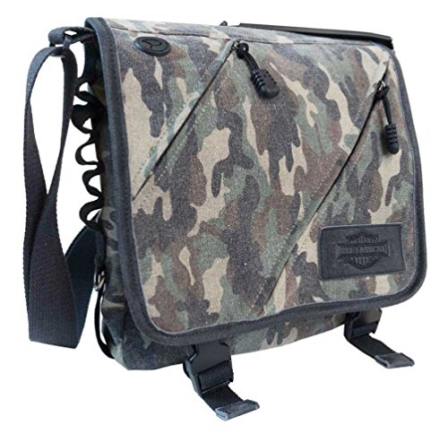 Canvas Bar & Shield Vertical Messenger Bag MC2753S-CAMO ()