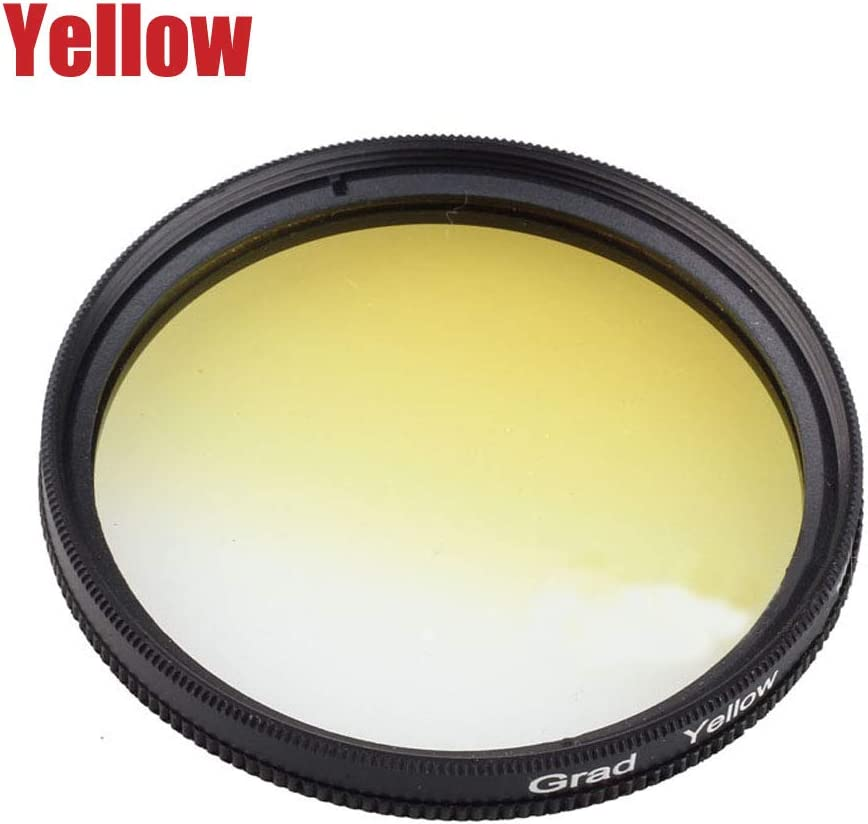 Yunchenghe Yellow Gradient Filter for Canon Nikon Sony All Brands of 52mm Digital SLR Camera Lens