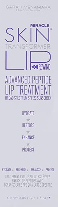 Amazon.com : Miracle Skin Transformer Lip Rewind Advanced Peptide Lip Treatment Broad Spectrum SPF 20 Berry 0.05 oz : Lip Balms And Moisturizers : Beauty