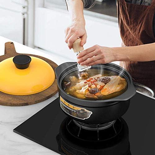 YLCJ Casserole Pot Casserole en céramique - Casserole Pot à ragoût Argile grossière Poterie Argile à l'ancienne Cuisinière à gaz Domestique Pot de poterie Haute température-3.5L