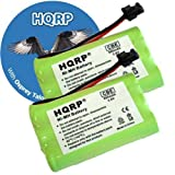 HQRP TWO Phone Batteries for Uniden DCT7488-2 DCX640 DCX700 ELBT585 ELBT595 ELT560 Cordless Telephone plus Coaster, Office Central