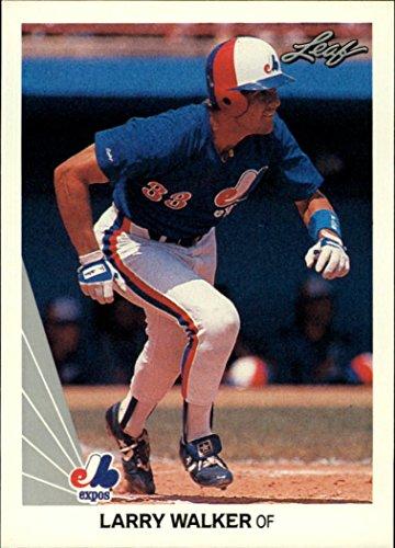 1990 Leaf #325 Larry Walker RC Rookie Card - NM-MT (Larry Walker 1990 Leaf)