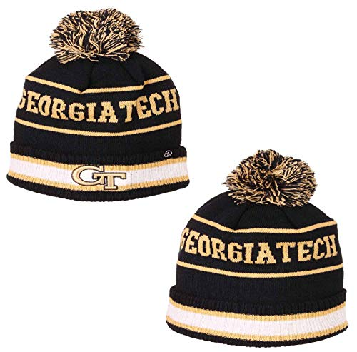 Zephyr Adult NCAA Ultra Soft Fleece Lined Knit Beanie (Georgia Tech Yellowjackets - Team Color) (Georgia Tech Knit)