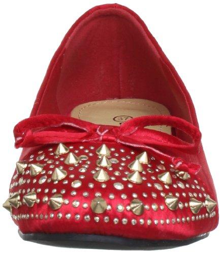 Tropeziennes para 461 Les Rouge 36AKB01 72982 Bailarinas terciopelo CHUT de mujer Rot Rojo HwdpqYw
