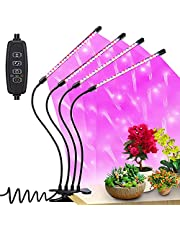 Grow Light, LED Grow Lights for Indoor Plants, 84LEDs USB Plant Grow Lights Red&Blue& White Spectrum 4 Heads Grow Lamp with 3/9/12H Timer, 10 Dimmable Level, 360°Adjustable Gooseneck and 3 Switch Modes.