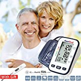 AmeriLuck Automatic Digital Upper Arm Blood Pressure Monitor FDA Approved Two User Mode (120 Reading Memory) 4in Large LCD Display Extra Long Cuff (8.6~16.5in) Carrying Case and Batteries Included