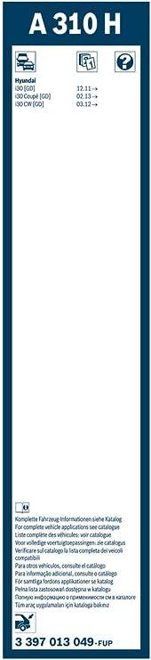 SPAZZOLA TERGI POSTERIORE BOSCH AEROTWIN A310H 3397013049 *Spedizione Inclusa!*