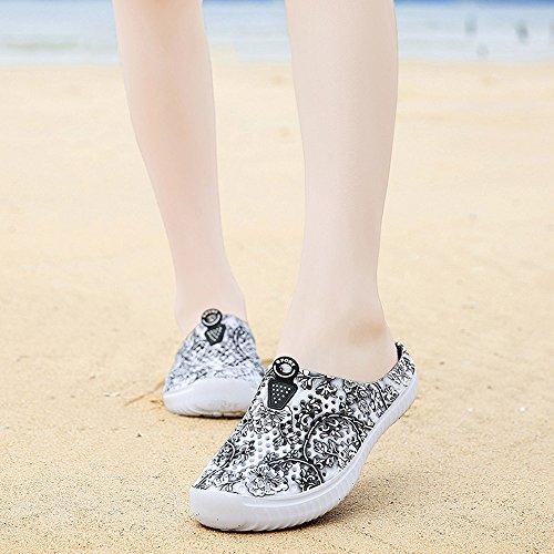 Sunmoot Beach Clog Shoes Slip On Garden Footwear Water Bash Womens Summer Casual Slippers Flip Flops Black by Sunmoot (Image #1)