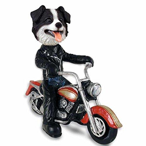 Border Collie Merchandise - Border Collie Motorcycle Doogie Collectable Figurine