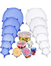 Silicone Stretch Lids, Safe in Dishwasher, Microwave and Freezer
