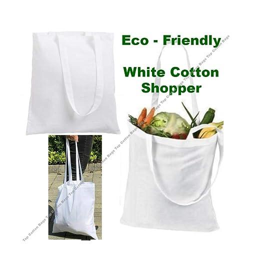 Paquete de 10 bolsas de algodón para la compra de calidad superior ...