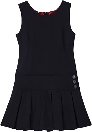 Bienzoe Girls School Uniform Pleated Jumper Dress