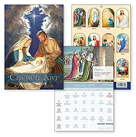 traditional church art religious calendar 2018 god made us a family house blessing verse