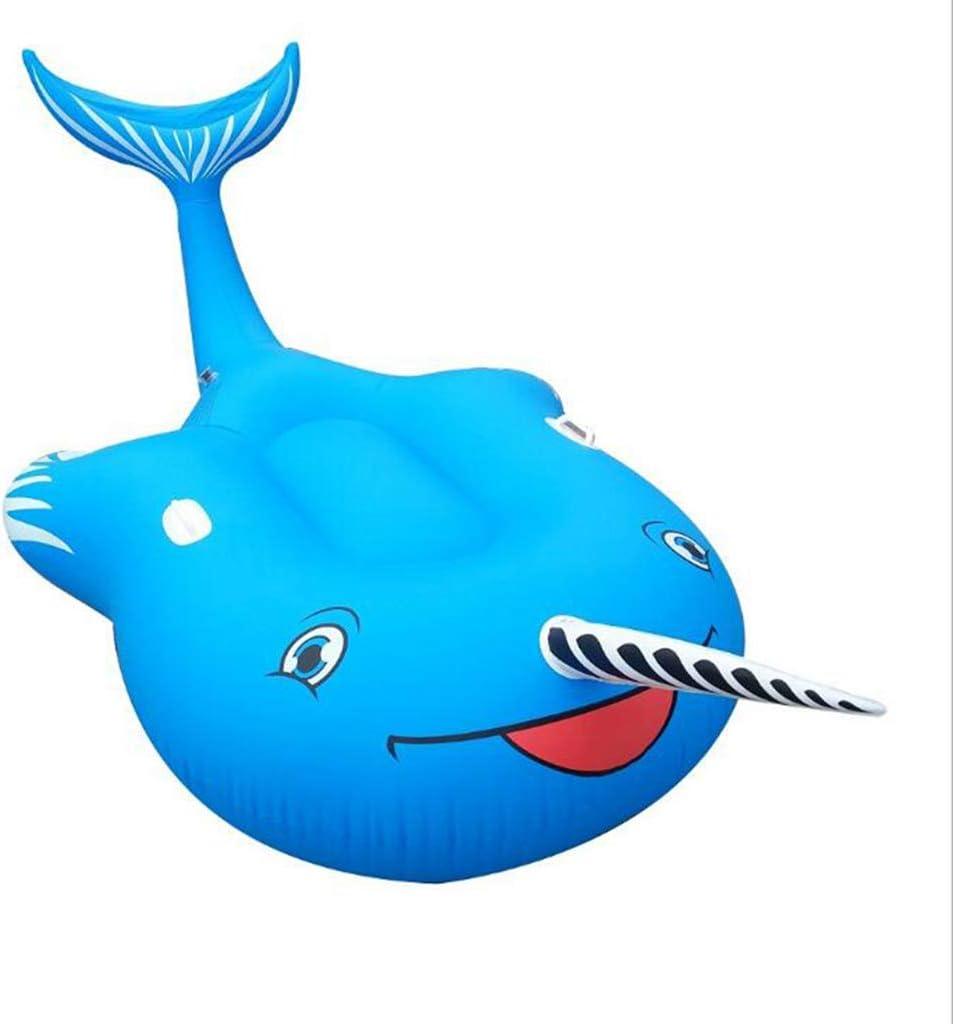 Y-M-H Piscina Inflable de Ballenas inflables de la Cama Flotante ...