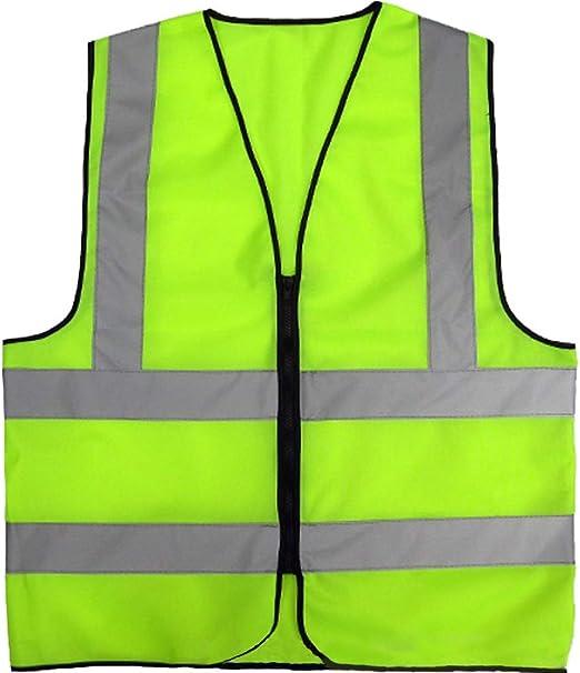 Adjustable Hi Vis High Viz Visibility Safety Security Waistcoat Reflective Vest