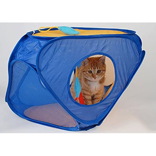 Pet Toy Tent Interactive Cat Toys Best Fun and Cool Moving Mystery Triangle