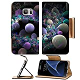 Liili Premium Samsung Galaxy S7 Flip Pu Leather Wallet Case Abstract 3D a background from multi colored full spheres of various form B Photo 10399040 Simple Snap Carrying