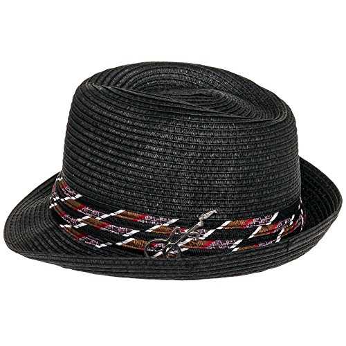 01079bcd7181 Galleon - Carlos Santana Men's Memento Pinch Front Fedora Hat W/ Guitar Pin  (Black, S/M)