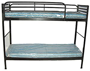 blantex heavy duty 30 wide institutional bunk bed with 4 foam mats camping cots. Black Bedroom Furniture Sets. Home Design Ideas