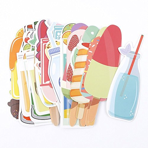 - NUOMI 30 Pcs Kids Paper Bookmarks Set Student Notes Page Flags, Popsicle Shapes Hand-Painted Style Design Bookmark, Sweet Summer