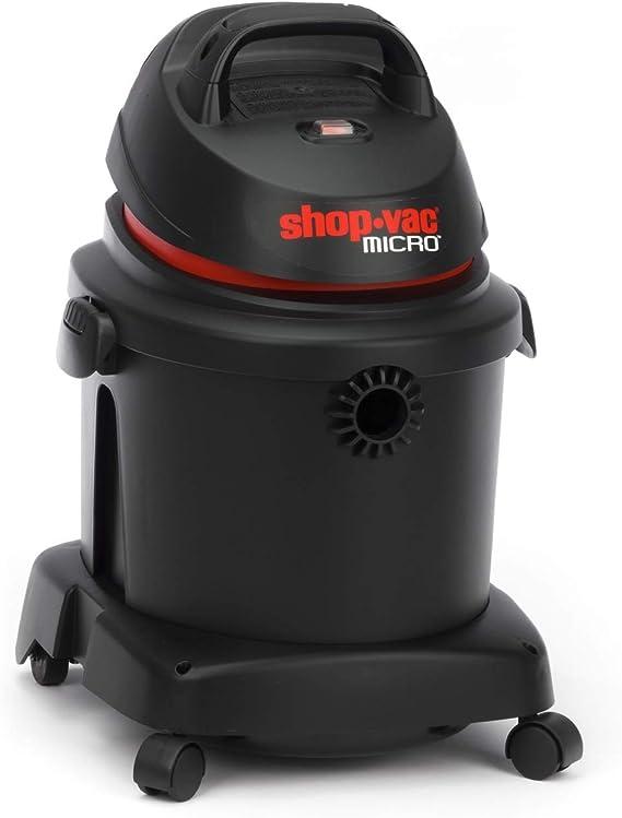 Aspirador/aspiradora en seco y húmedo Micro 16 Portable ~ Ligero, Aspiradora portátil, para Flexible Potencia en el hogar, el Garaje o en el Coche ~ con Variado Accesorios, 16 L de depósito: