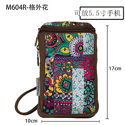 (Female hand take coin purse canvas key bag cosmetic bag, H)