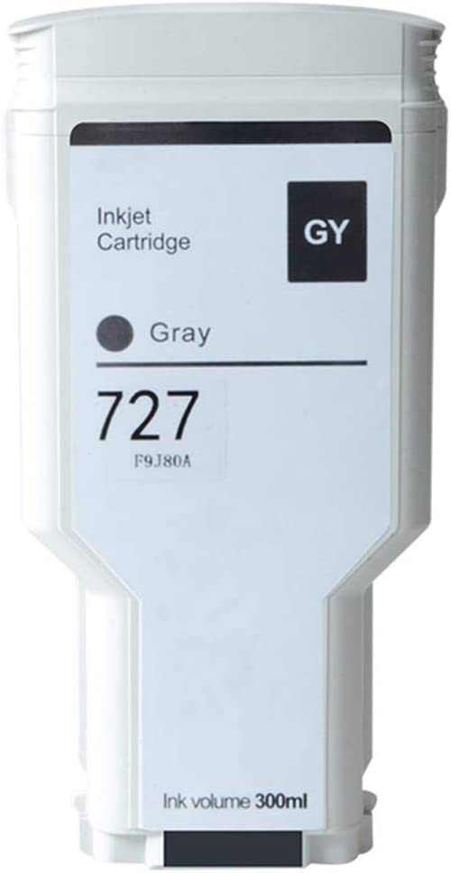 Aomya 300ml Gray Ink Cartridge Compatible for HP 727 Dye Ink Works for DesignJet T920 T930 T1500 T1530 T2500 T2530